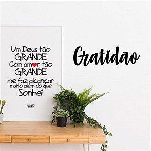 Nome de Parede - Gratidão