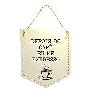 Plaquinha Xilogravura - Café Expresso
