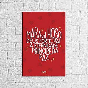 Placa Lettering - Deus Forte