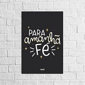Placa Lettering - Fé