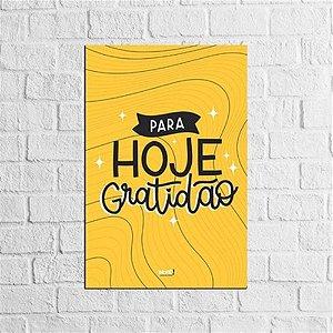 Placa Lettering - Gratidão