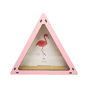 Cofrinho Triângulo - Flamingo