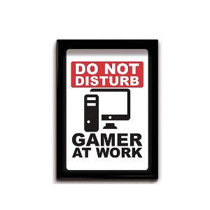 Quadro Decorativo Gamer Work