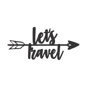 Letreiro - Let's Travel