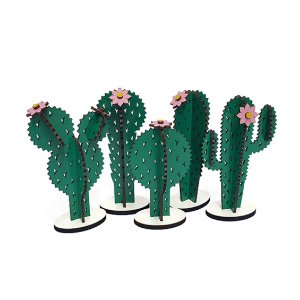 Kit Cactos Decorativos Coloridos