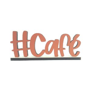 Hashtag Café Decorativa com Base - Bronze