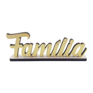 Nome Família Decorativo na Base - Dourado