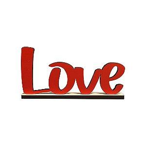 Nome Love Decorativo com Base - Vermelho