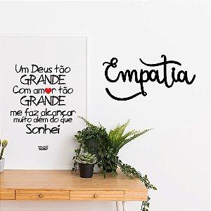 Palavra Decorativa em MDF - Empatia