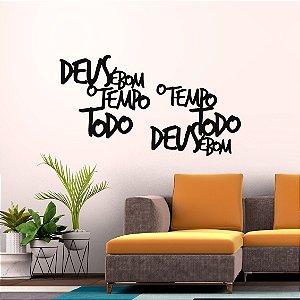 Kit Decorativo em MDF - Deus é Bom