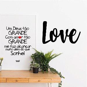 Palavra Decorativa em MDF - Love