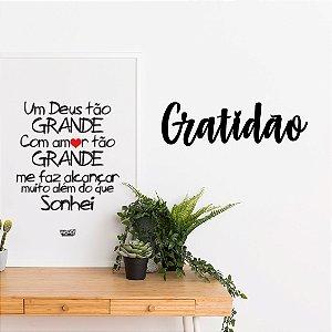 Palavra Decorativa em MDF - Gratidão