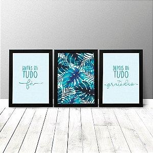 Kit Quadros Criativos - Fé e Gratidão