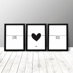 Kit Quadros Criativos - Love