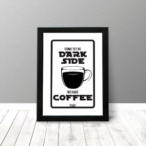 Quadro Criativo - Dark Side Coffee