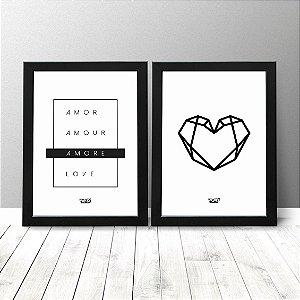 Kit Quadros Criativos - Amor + Coração
