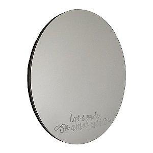 Espelho Decorativo - Lar é onde o amor está