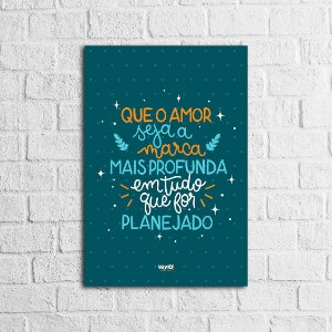 Placa Lettering - O Amor