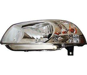 Farol H4 Le C Pisca Máscara Cromada Fiat Palio FF488LE