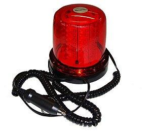 Giroled 64 Leds Vermelho 24V C Imã  Plug  Cabo 35M