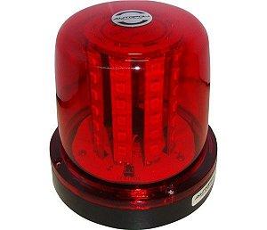 Giroled Vermelho  54Leds Smd 12  24V  Bivolt  7Efeitos De Luz