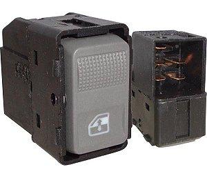 Interruptor Vidro Elétrico Gol Parati T.D  T.E  Cinza 540036