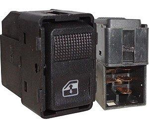 Interruptor Vidro Elétrico Gol T.D T.E Preto 540035