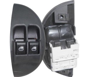 Interruptor Vidro Elétrico Palio Siena Dianteiro Esquerdo Led Verde 520007
