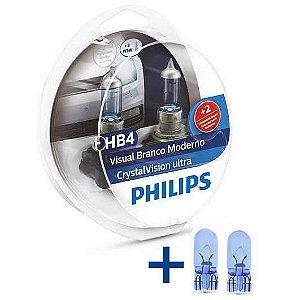 Kit Lâmpada Philips HB4 4300K Cristal Vision Efeito Xenon