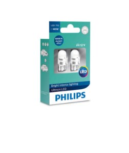 Kit Lâmpada Ultinon Philips Led 12V T10 W5W 6000K 11961Ulwx2