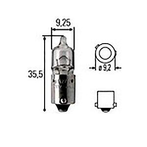 Lâmpada H6 12V 6W Bax9S Audi A4 Bmw 118I Citroen C4