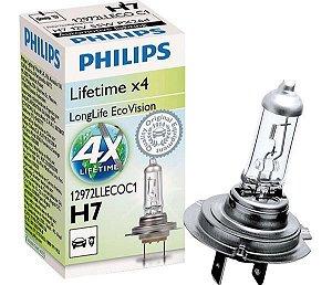 Lâmpada H7 12V 6055W  Longlife Ecovision  4X Mais Durabilidade
