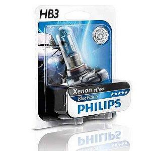 Lâmpada Hb3 12v 65w Blue Vision Efeito Xenon