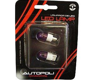 Lâmpada Led  Par  Base De Vidro Grande 12V Ultra Violeta (Par)