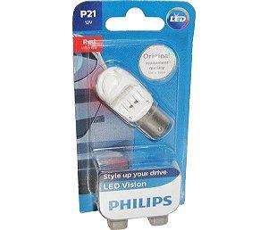 Lâmpada Led 12V 2W 1Polo Led Vermelho  Lanterna Traseira  Luz De Freio  Modelo 114112V