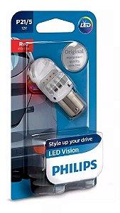Lâmpada Led Philips 12V 2W 2 Polos Led Vermelho Lanterna Traseira Freio 103412V