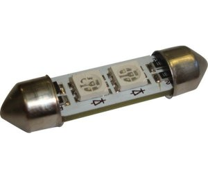 Lâmpada Led Torpedo 36Mm 12V 10W Azul
