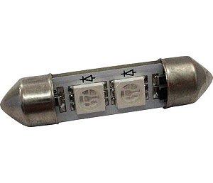Lâmpada Led Torpedo 36Mm 24V 10W Azul