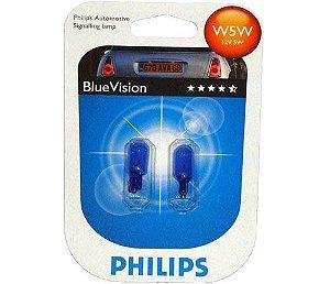 Lâmpada T10 W5w 12v 5w Blue Vision Efeito Xenon