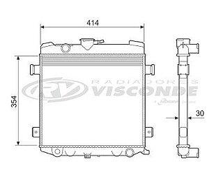 Radiador Água Chevette Chevy 500 1.4 1.6 Todos 12221
