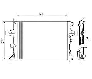 Radiador Água Chevrolet Astra Zafira 12575