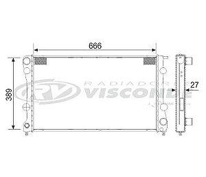 Radiador Água Chevrolet Blazer S10 2.8 Diesel 00-04 19227