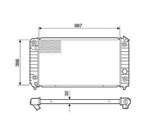 Radiador Água Chevrolet Blazer S10 Com Ar Condicionado 12560