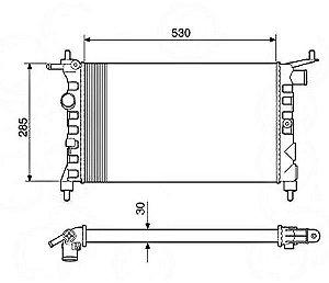 Radiador Água Chevrolet Corsa 1.0 1.4 1.6 94-02 12216