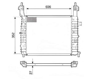 Radiador Água Chevrolet Meriva 1.8 02-09 12573