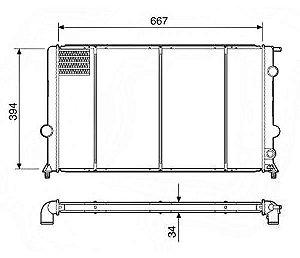 Radiador Água Chevrolet S10 Blazer 2.5 96-00 19225