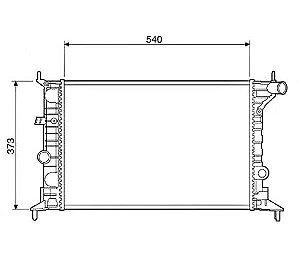 Radiador Água Chevrolet Vectra 1.8 2.0 97-05 12569