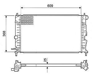 Radiador Água Chevrolet Vectra 2.0 2.2 97-05 C Ar Cond 12570
