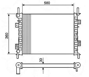 Radiador Água Ecosport 1.6 2.0 03-09 Fiesta 1.0 03-06 12733