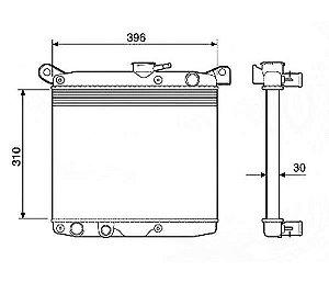 Radiador Água Fiat 147 1.0 1.3 77-82 12205